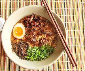 ramen, garlic, and japanese food image