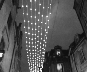 black and white, street, and christmas image