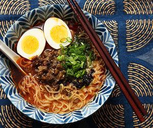 egg, eggplant, and japanese food image