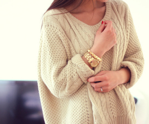 accessories, gold, and sweater image