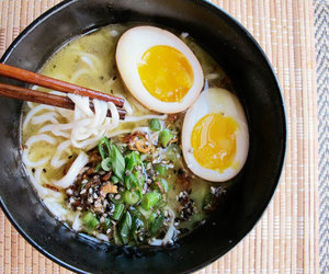 egg, japanese food, and soup image