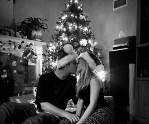 love, couple, and christmas image