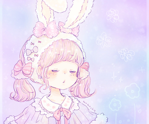 pink and rabbit image