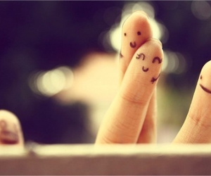 love, fingers, and smile image