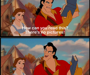 book, gaston, and beauty and the beast image