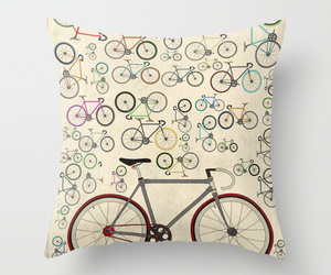 art, bed, and bicycles image