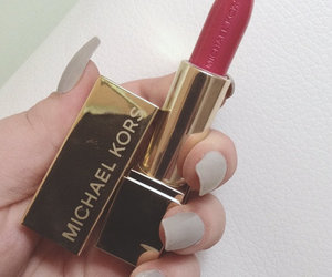 lipstick, Michael Kors, and red image