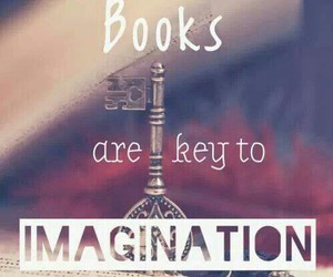 book, imagination, and key image