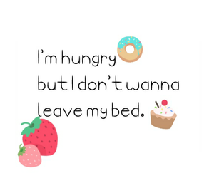 bed, cupcakes, and food image