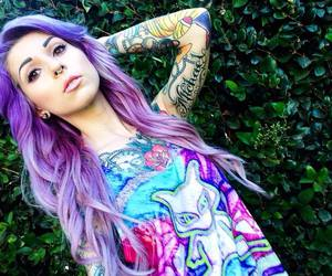 hair, purple hair, and alt girl image