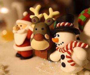 christmas, santa, and snowman image