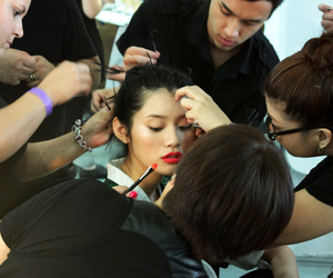 back stage and makeup image