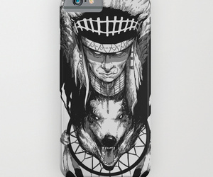 art, wolf, and phone case image