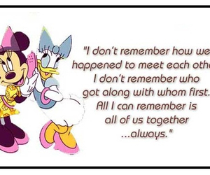 daisy, minnie, and quote image
