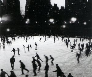 winter, city, and black and white image