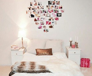 bed, candle, and fur image
