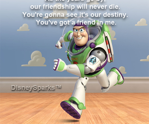 disney, friendship, and toy story image