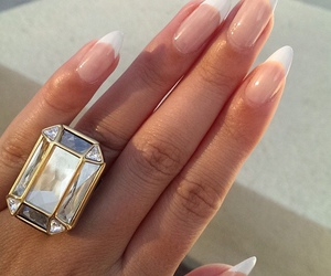 nails, ring, and manicure image