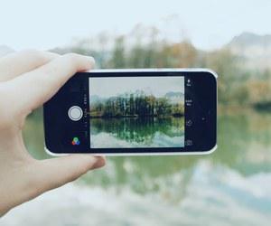 nature, iphone, and lake image