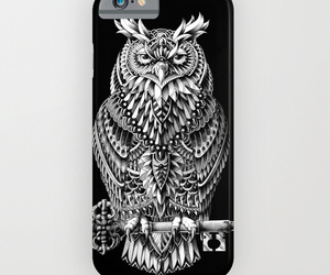 great horned owl, gift ideas, and phone case image