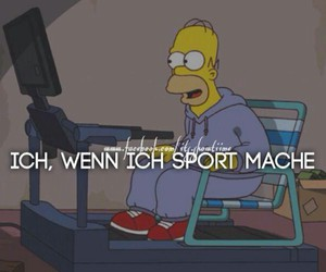 fitness, simsons, and homer image