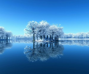 paradise, snow, and winter image