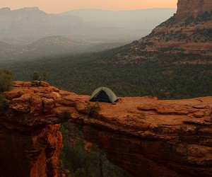 camping, alone, and nature image