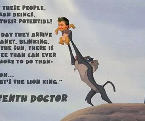 david tennant, doctor who, and the lion king image