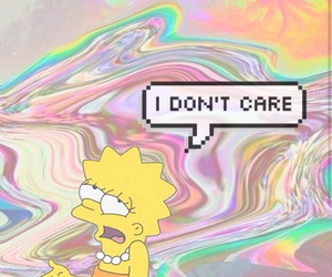 simpsons, lisa, and i don't care image