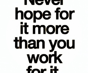 quote, hope, and work image