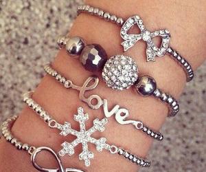 bracelet, love, and fashion image