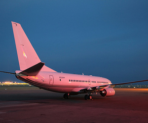 pink, airplane, and plane image
