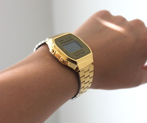casio, gold, and watch image