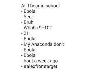 school, ebola, and funny image