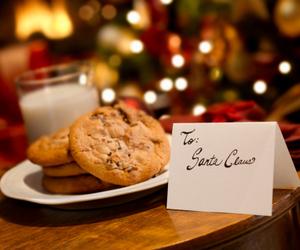 christmas, Cookies, and milk image