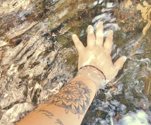 life, tattoo, and water image