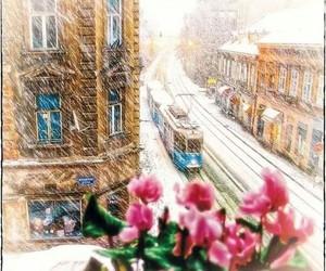Croatia, old photo, and snow image