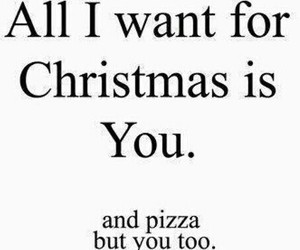 pizza, christmas, and love image
