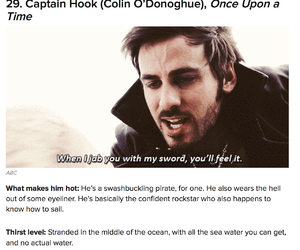 sexy, captain hook, and colin o'donoghue image