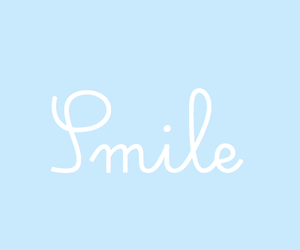 blue, smile, and quote image