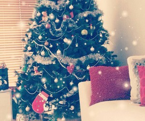 christmas, tree, and gifts image