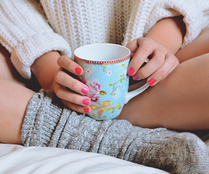 coffee, cozy, and nails image