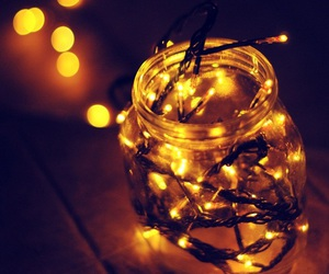 light, jar, and christmas image