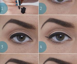 makeup, eyeliner, and make up image