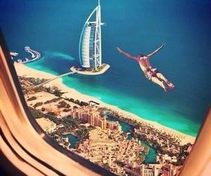 Dubai, fly, and sea image