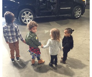 kids, north west, and kim kardashian image