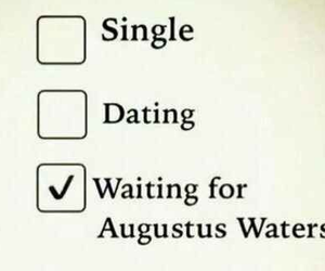 augustus waters, the fault in our stars, and single image