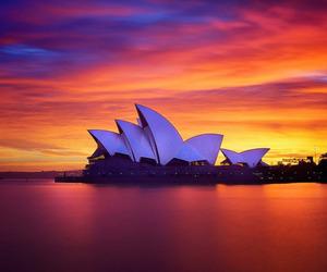 Sydney and sunset image