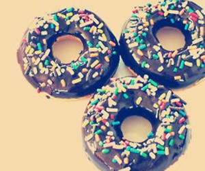 food, chocolate, and donuts image