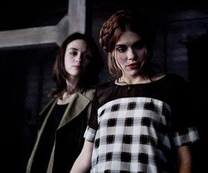 teen wolf, holland roden, and crystal reed image